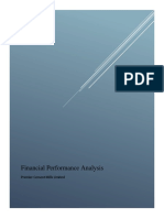 Financial Analysis Premier Cement Mills Limited
