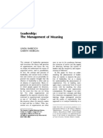 Leadership_The Management of Meaning