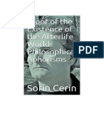Proof of the Existence of the Afterlife World - Philosophical Aphorisms by Sorin Cerin