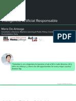 Maria de-Arteaga, Inteligencia Artificial Responsable