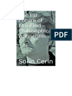 The Far Future of Mankind- Philosophical Aphorisms by Sorin Cerin