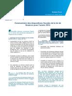 KPMG Loi de Finance 2014
