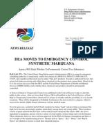 DEA K2 press release
