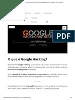 O Que é Google Hacking_ O Lado Obscuro Das Pesquisas Avançadas - Tech Start XYZ