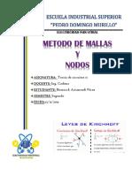 TEORÍA DE CIRCUITOS II Mallas y Nodos