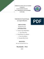VISION REAL DE LA NACION PERUANA EN LOS ASPECTOS EDUACTIVOS