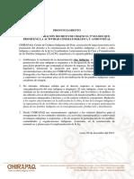 Pronunciamiento sobre Decreto de Urgencia que promueve la actividad cinematográfica y audiovisual