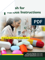 English for Pharmacy and Food Analyst Course Book