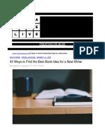 43 Ways to Book Idea