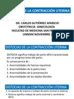 DISTOCIAS DE LA CONTRACCIÓN UTERINAFINAL UNMSM 2019.pptx