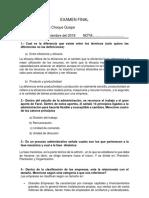 cuestionario administracion de empresas