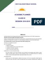 Curriculum Planner Class Ix Final 2018-19