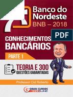 Banco Do Nordeste – BNB – 2018 - Conhecimentos Bancários - Parte 1