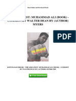 The Greatest Muhammad Ali Book Common by Walter Dean by Author Myers