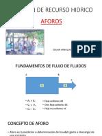AFOROS (GESTION DE RECURSO HIDRICO) ING. AGR. MSc. EDGAR CASASOLA CHINHILLA.pptx