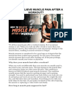 How to Relieve Muscle Pain After a Workout (DMoose Fitness)