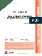 33kv Outdoor Dead Tank Circuit Breaker Assembly