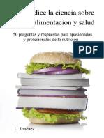 Jimenez L - Lo Que Dice La Ciencia Sobre Dietas Alimentación Y Salud