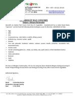 Alleregen Declaration-IQF