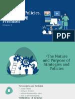 Strategies, Policies, And Planning Premises