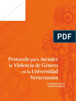 Protocolo Para Atender La Violencia de Genero en La UV