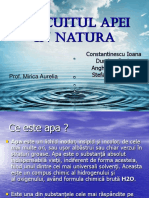 Circuitul apei in natura - Proiect bio.ppt