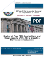 Department of Justice inspector general report