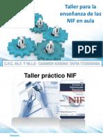 taller para la enseñanza de las nif