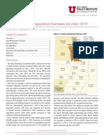 Utah Population Estimates 2010 - 2019