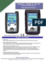 PIECAL 520B 521B Thermocouple Source Operating Instructions 520B-9002 Rev C