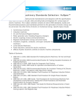 Table of IEEE Standards and Descriptions