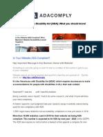 ADA Compliant Website Solution