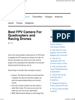 Best FPV Camera for Quadcopters and Racing Drones