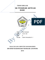Makalah Simulasi Antrian Bank