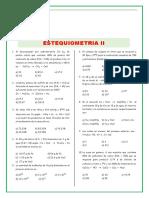 Ejercicios de Estequimetria Para Tercero de Secundaria