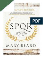[2016] SPQR by Mary Beard | A History of Ancient Rome | Liveright