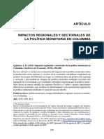 Impactos regionales y sectoriales de la politica monetaria en colombia.pdf