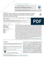 5 Antibiotic-resistant Staphylococcus Epidermidis Isolated From Patients and Healthy Students Comparing With Antibiotic-resistant Bacteria Isolated From Pasteurized Milk