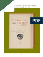 1906 El Hombre y La Tierra Tomo I