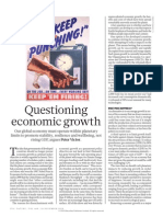 Questioning Economic Growth - Peter Victor (NATURE)