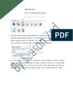 Membuat Databases Pada Microsoft Access