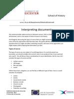 Interpreting documents