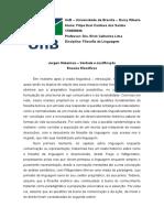 Fichamento Texto Sobre Verdade e Justificação Habermas