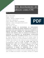 Improcedente desechamiento del amparo indirecto contra CFE.pdf