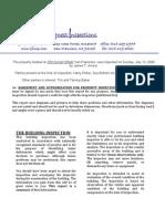 Sample Property Inspection