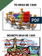 DECRETO REGLAMENTARIO  2649 DE 1993