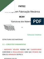 02 - Estrutura Dos Materiais