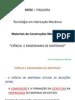 01 - Ciência e Engenharia de Materiais