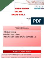 Manajemen Risiko Dalam Snars Ed 1.1