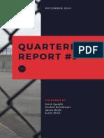 JAIL Hotline - Third Quarterly Report
